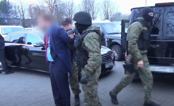 Задержание «Анисима» в Борисполе в 2013 году. Кадры оперативной съёмки